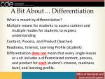 a bit about differentiation