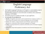 english language proficiency act