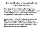 2 1 identification of champions for the elaboration of psrps