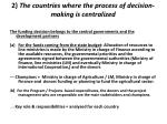 2 the countries where the process of decision making is centralized