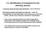 3 1 identification of champions for the planning process