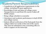 student parent responsibilities