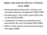major educational reforms in poland since 1989