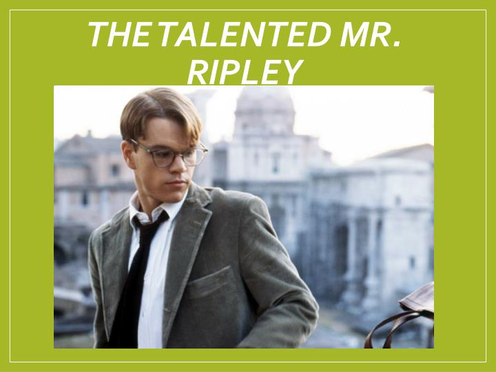 the talented mr ripley n.
