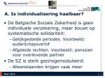 a is individualisering haalbaar