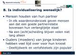 b is individualisering wenselijk