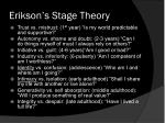 erikson s stage theory