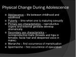 physical change during adolescence