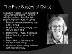 the five stages of dying