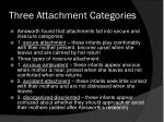 three attachment categories