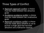 three types of conflict