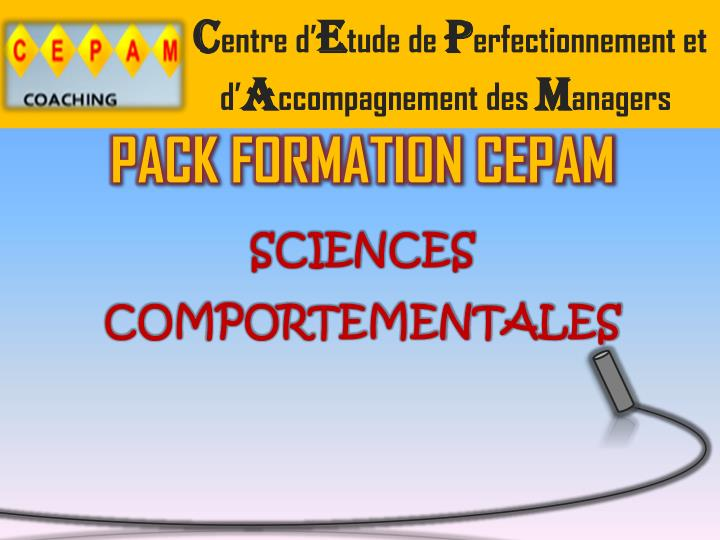 pack formation cepam sciences comportementales n.