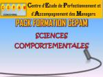 pack formation cepam sciences comportementales