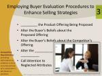 employing buyer evaluation procedures to enhance selling strategies