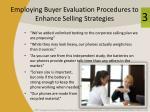 employing buyer evaluation procedures to enhance selling strategies1