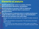 elements of analysis