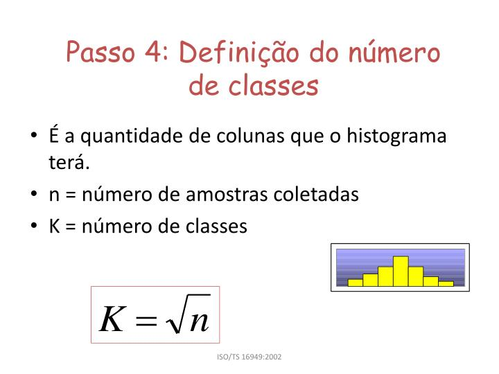 passo 4 defini o do n mero de classes n.