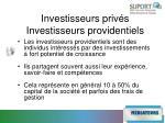 investisseurs priv s investisseurs providentiels