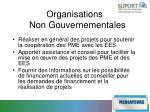 organisations non gouvernementales