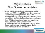 organisations non gouvernementales1