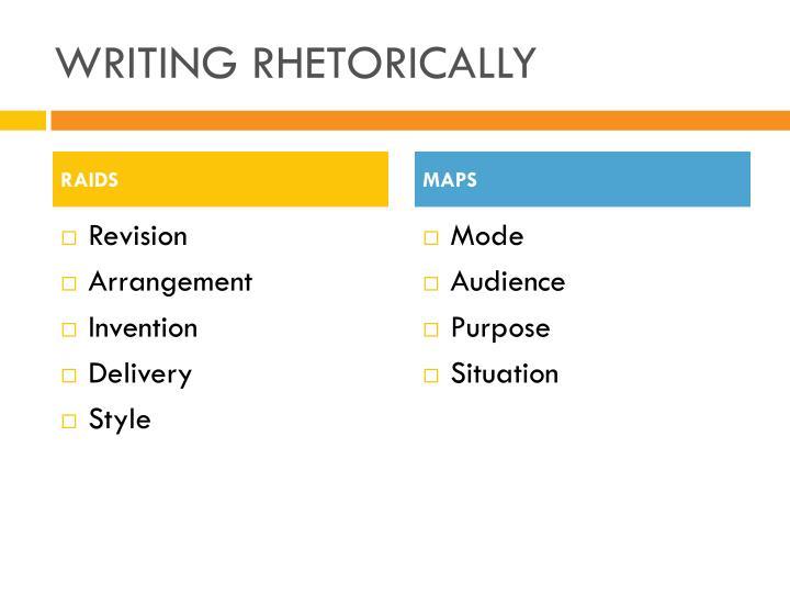 WRITING RHETORICALLY