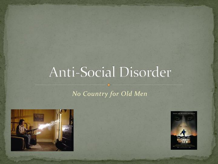 anti social disorder n.
