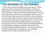 the meaning of the parable