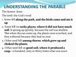 understanding the parable