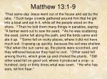 matthew 13 1 9