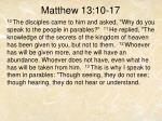 matthew 13 10 17