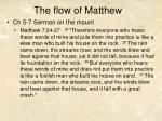 the flow of matthew