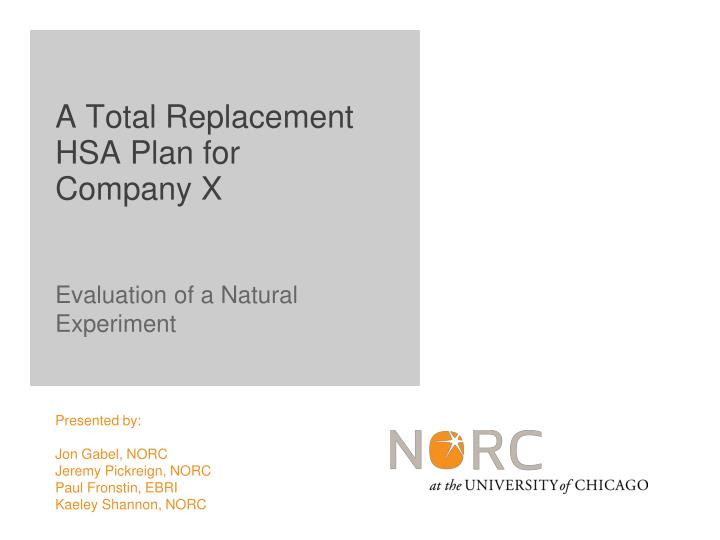 evaluation of a natural experiment n.