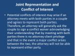 joint representation and conflict of interest