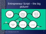 entrepreneur script the big picture