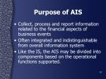 purpose of ais