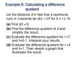example 6 calculating a difference quotient