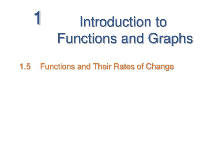 introduction to functions and graphs n.