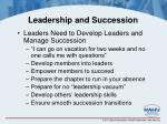 leadership and succession