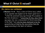 what if christ is raised
