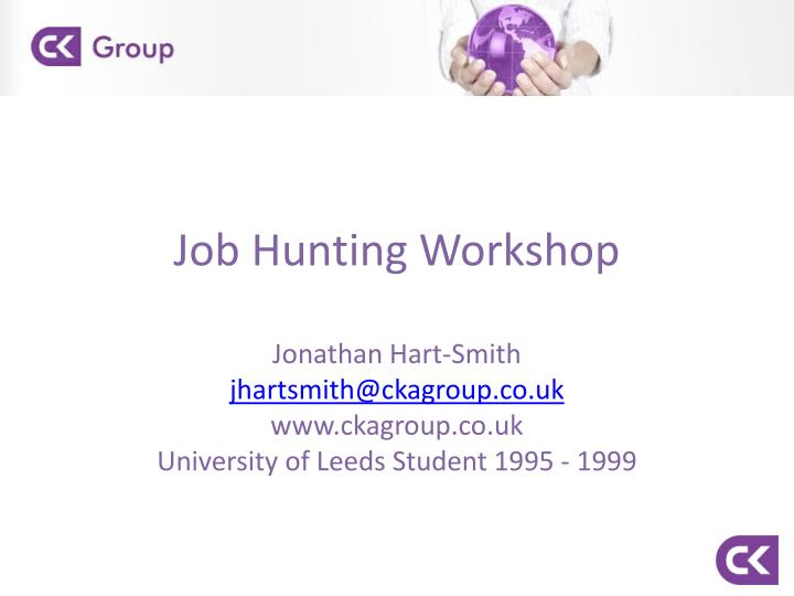 job hunting workshop n.