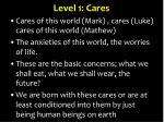 level 1 cares