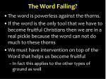 the word failing