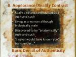 ii appearance reality contrast
