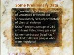 some preliminary data