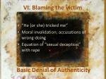 vi blaming the victim