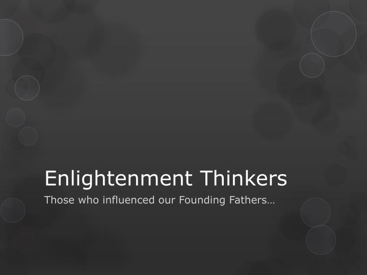 enlightenment thinkers n.
