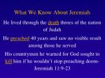 what we know about jeremiah1