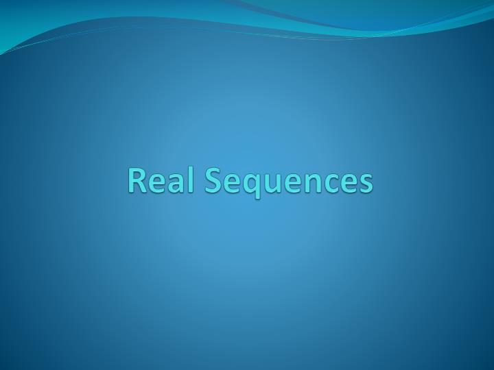 real sequences n.