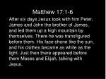 matthew 17 1 6