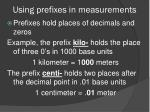 using prefixes in measurements